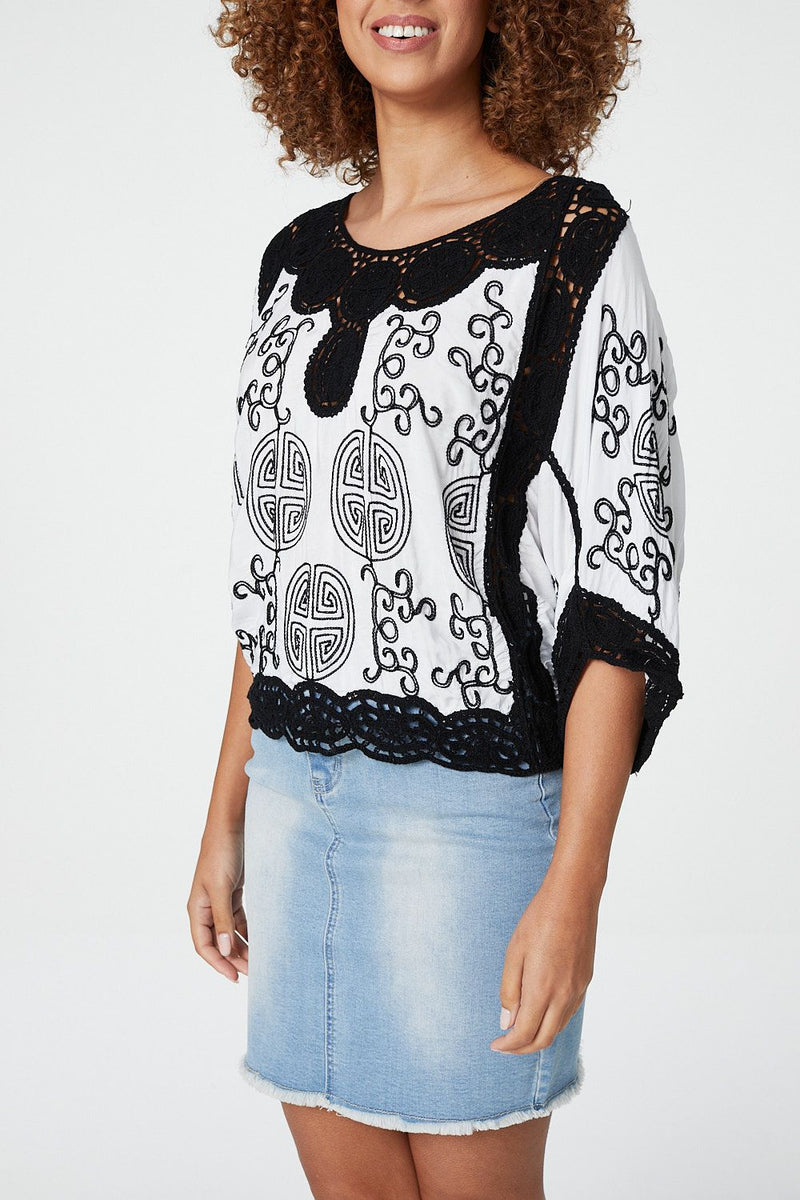 Mosaic Print Top - Izabel London