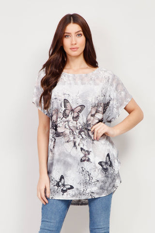 Geo Layer T-Shirt Top