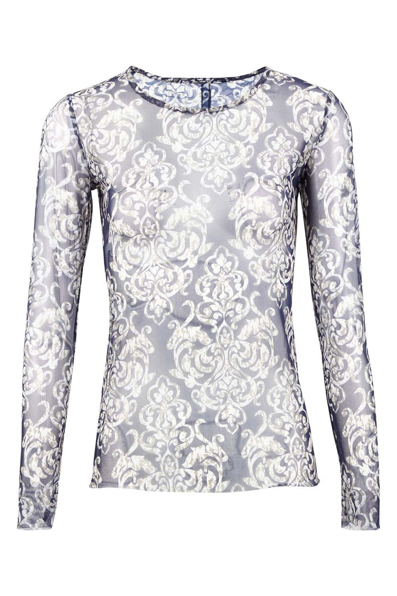 | Damask Sheer Top | Izabel London