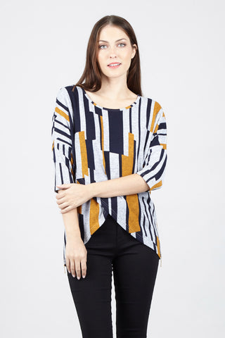 Eyelash Striped Jumper