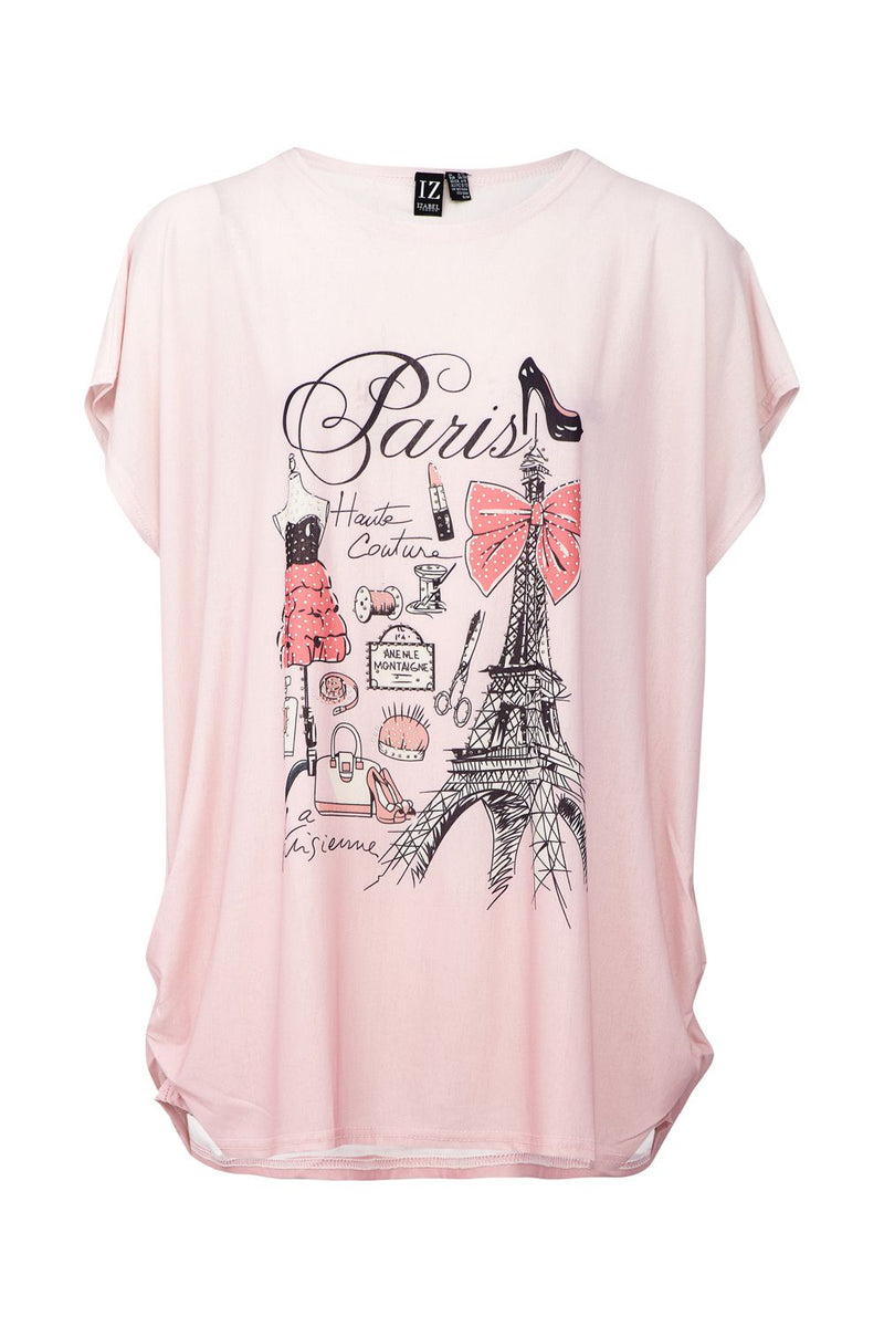 Pink | Paris Slogan Tee