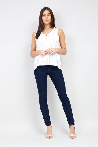 Lace-Up Shirt With Pockets