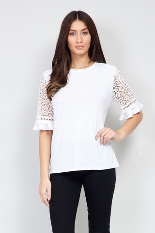 Damask Roll Neck Top