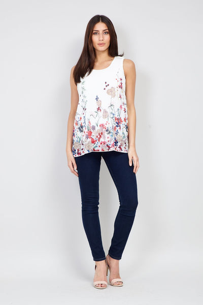 Botanical Print Vest - Izabel London