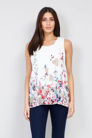 Floral Cold Shoulder Top
