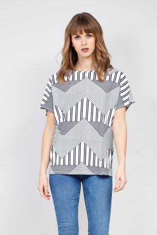 Striped Yoke Shirt