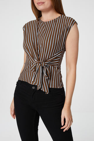 Curve Stripe Tunic Top