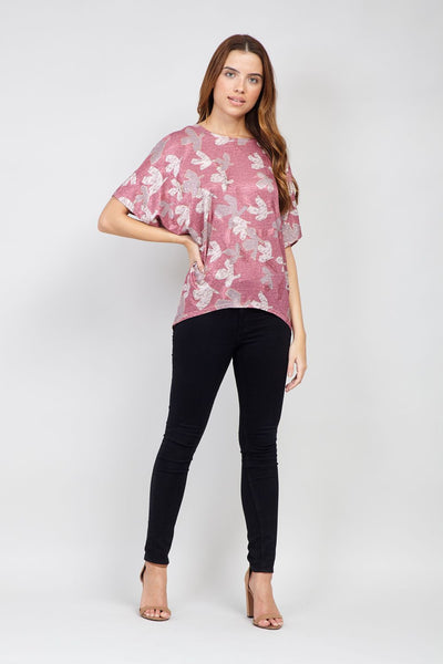 Floral Print Oversized Top - Izabel London