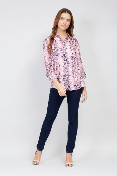Snake Print Shirt - Izabel London