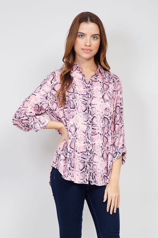 Curve Mosaic Oversized Top