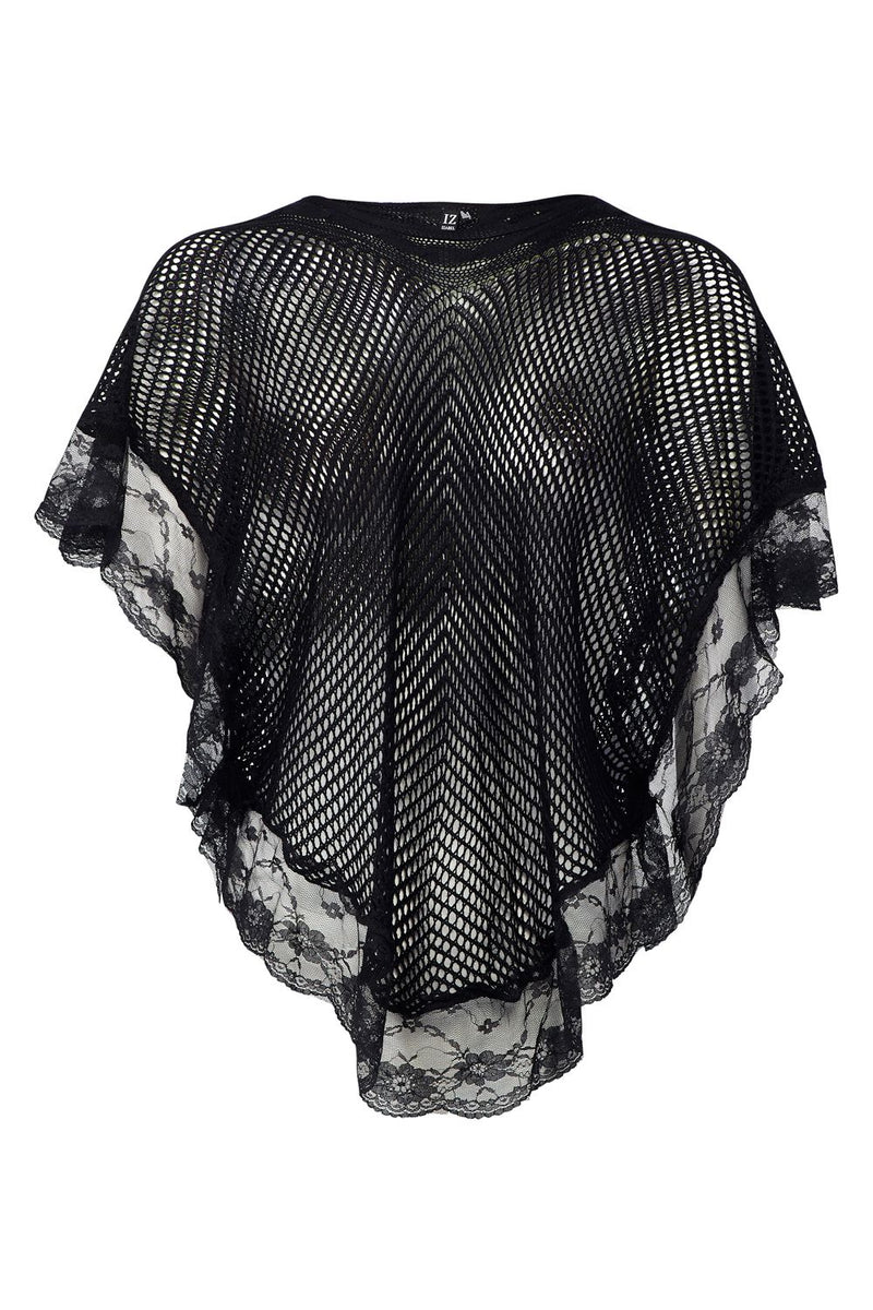 Black | Lace Trim Kaftan