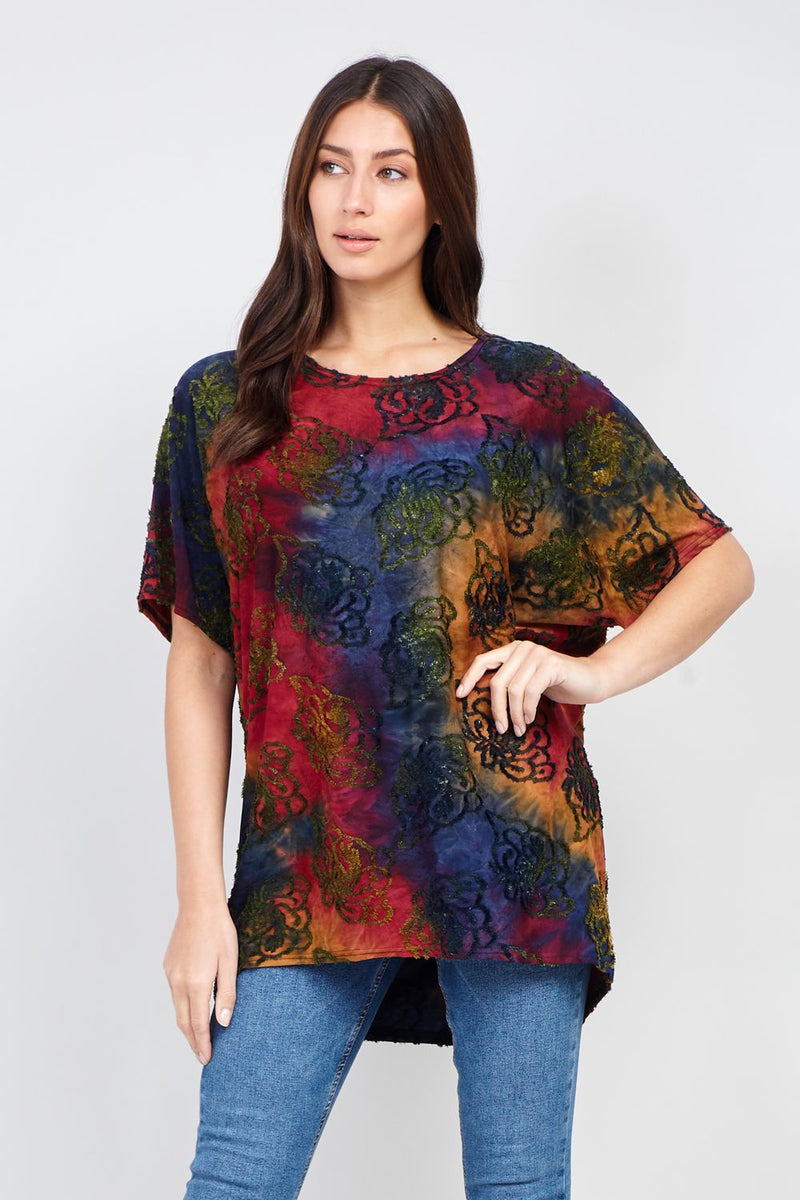 Red | Abstract Print Oversized T-Shirt