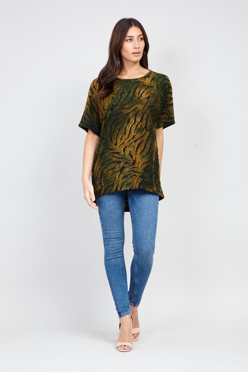 Green | Abstract Print T-shirt