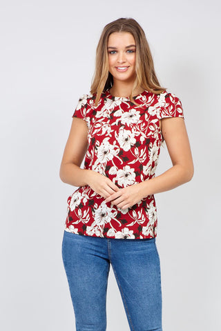 Floral Print Layered Top