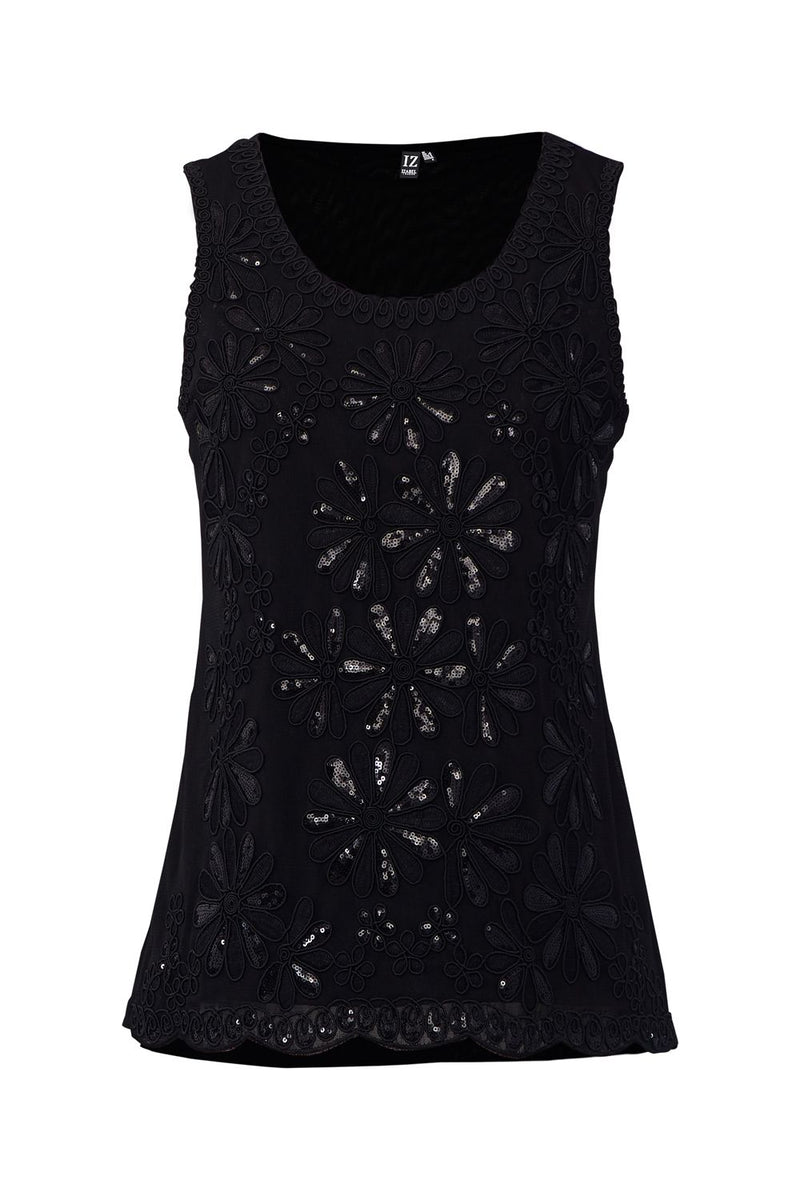 Black | Sequin Swing Vest
