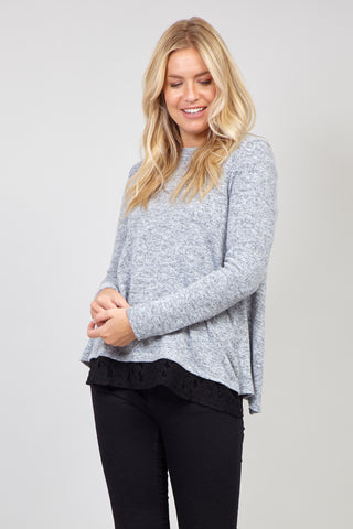Curve Animal Zip Neck Jumper