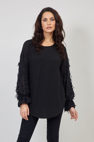 Floral Sheer Hem Top