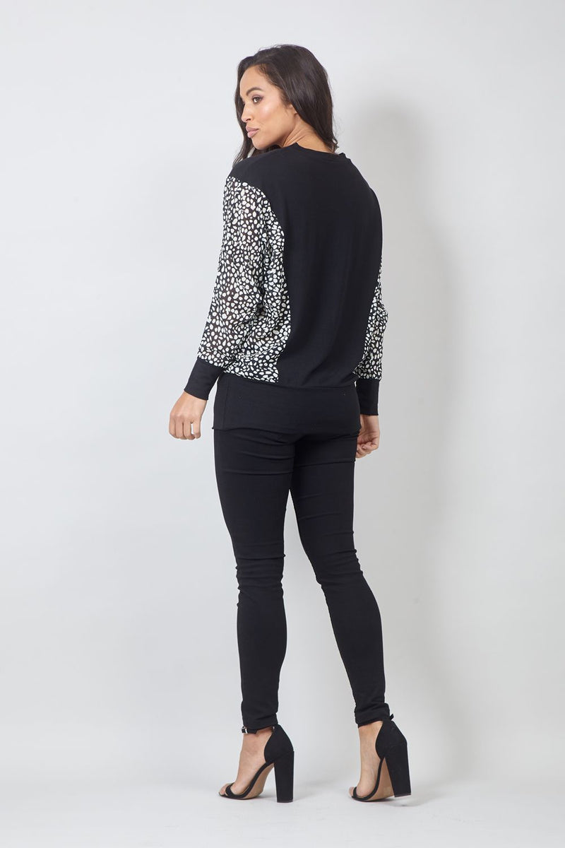 Black | Polka Dot Detail Jumper