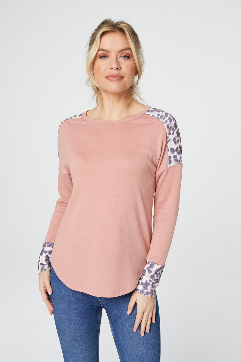 Pink | Animal Print Sweatshirt