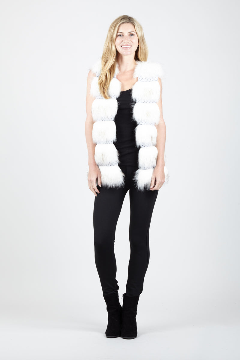 Cream | Fur Layered Gilet
