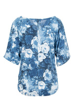 Oversized Rose Print Top - Izabel London