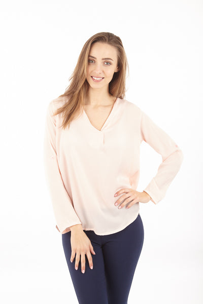 V Neck Chiffon Blouse - Izabel London