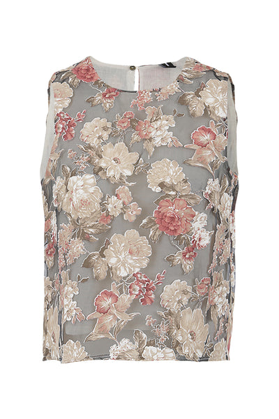 Floral Print Crop Top - Izabel London