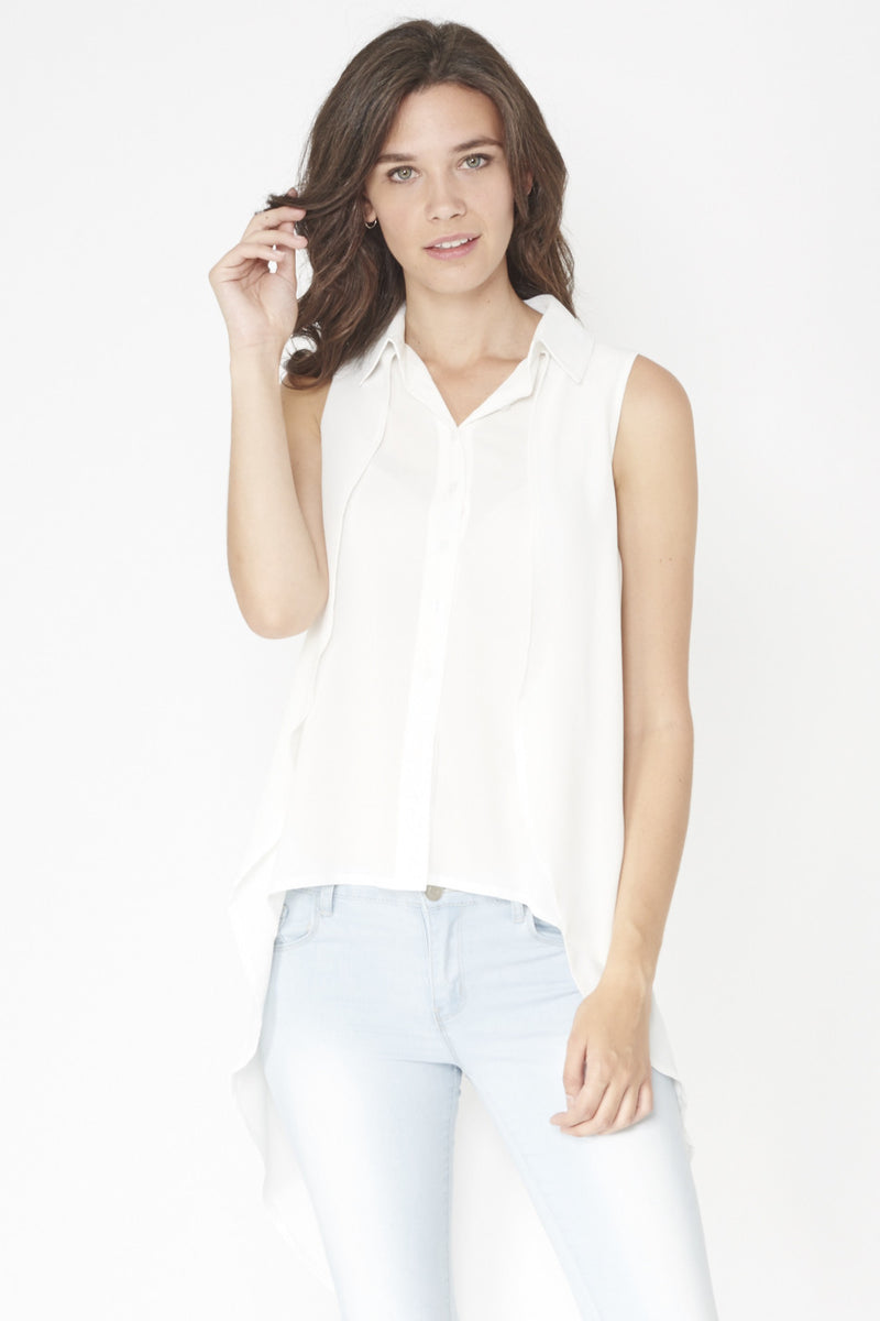 Double Layered Blouse Top - Izabel London