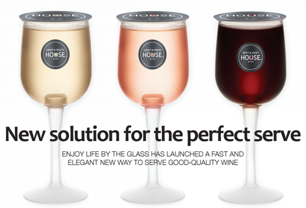 Wine in a half-pint glass?  Let's raise the bar, please