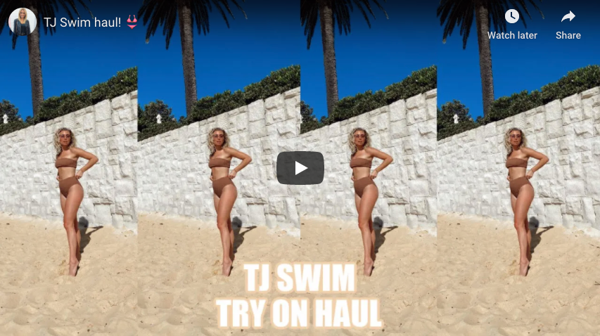 Cassidy McGill X TJ SWIM - TRY ON HAUL