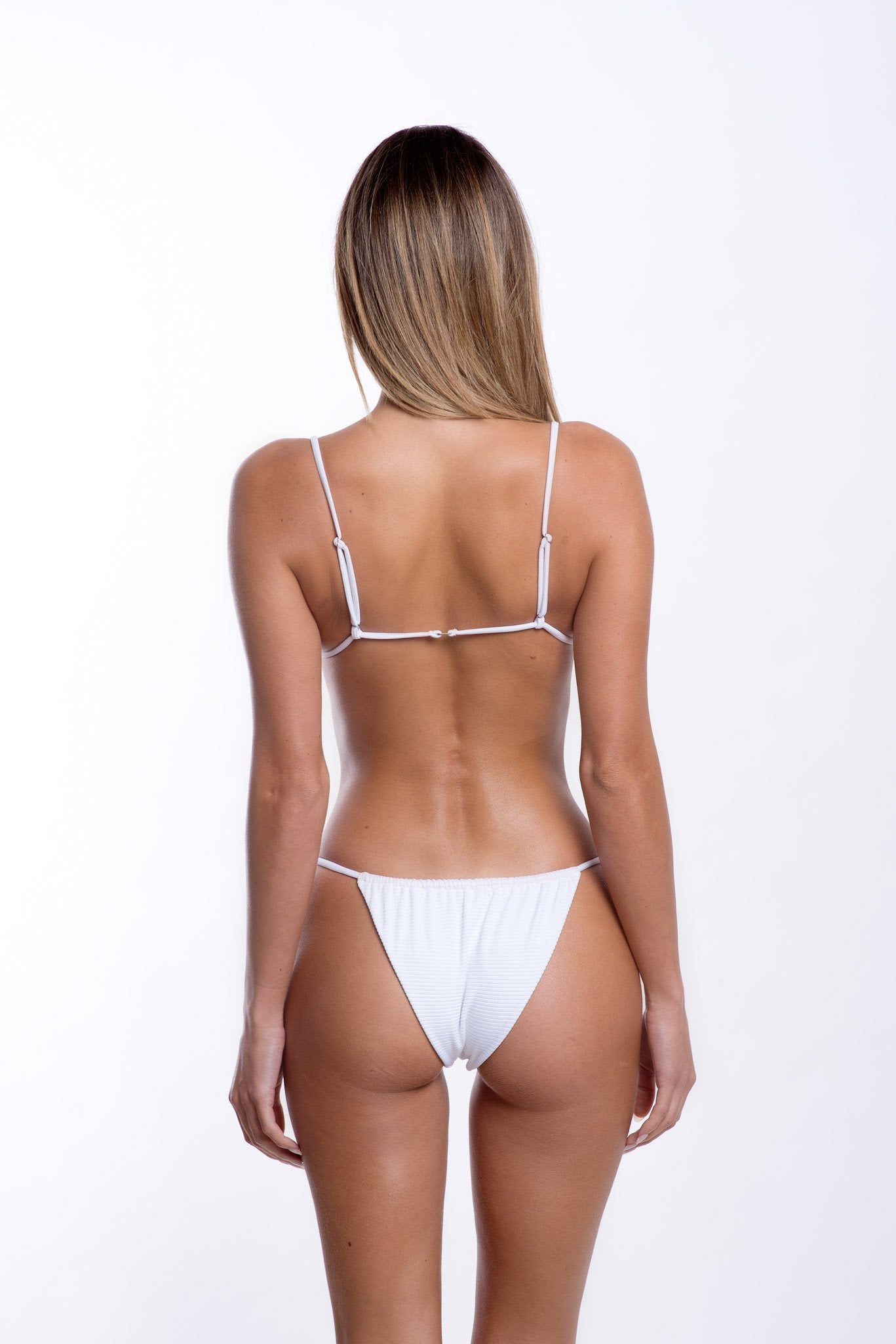 Leila Bottoms White Rib