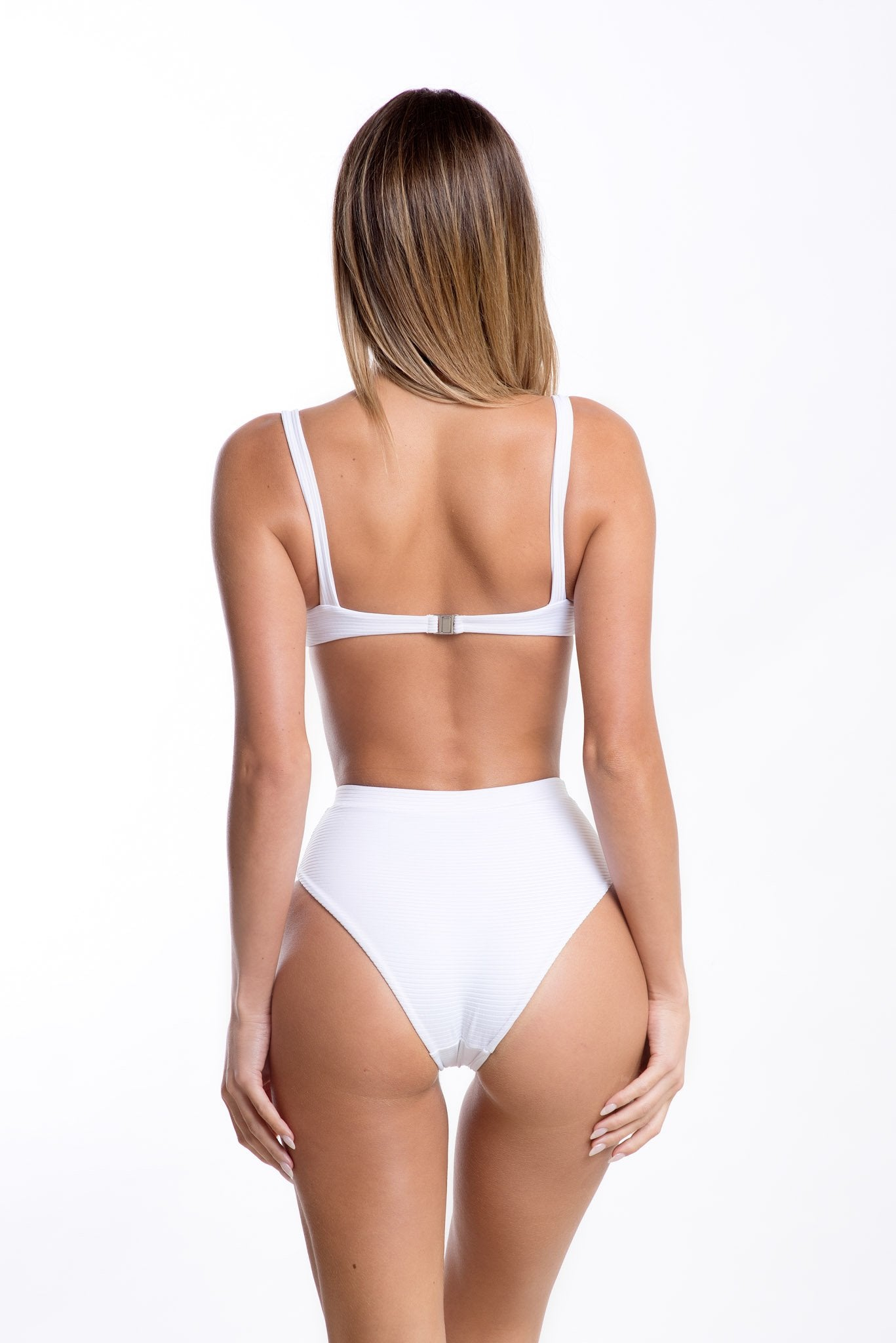 Estelle Top White Rib