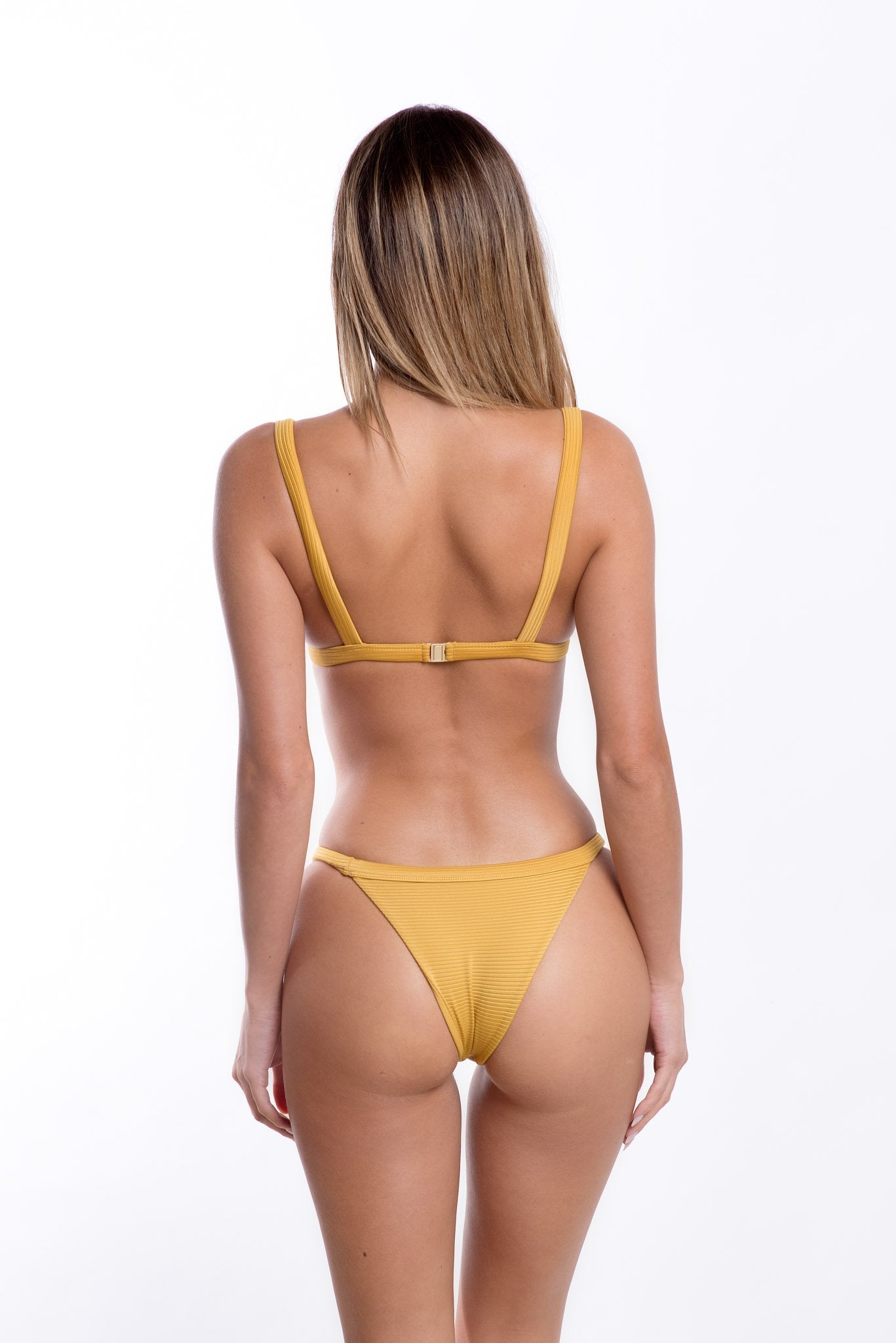 Romee Bottoms Mustard Rib