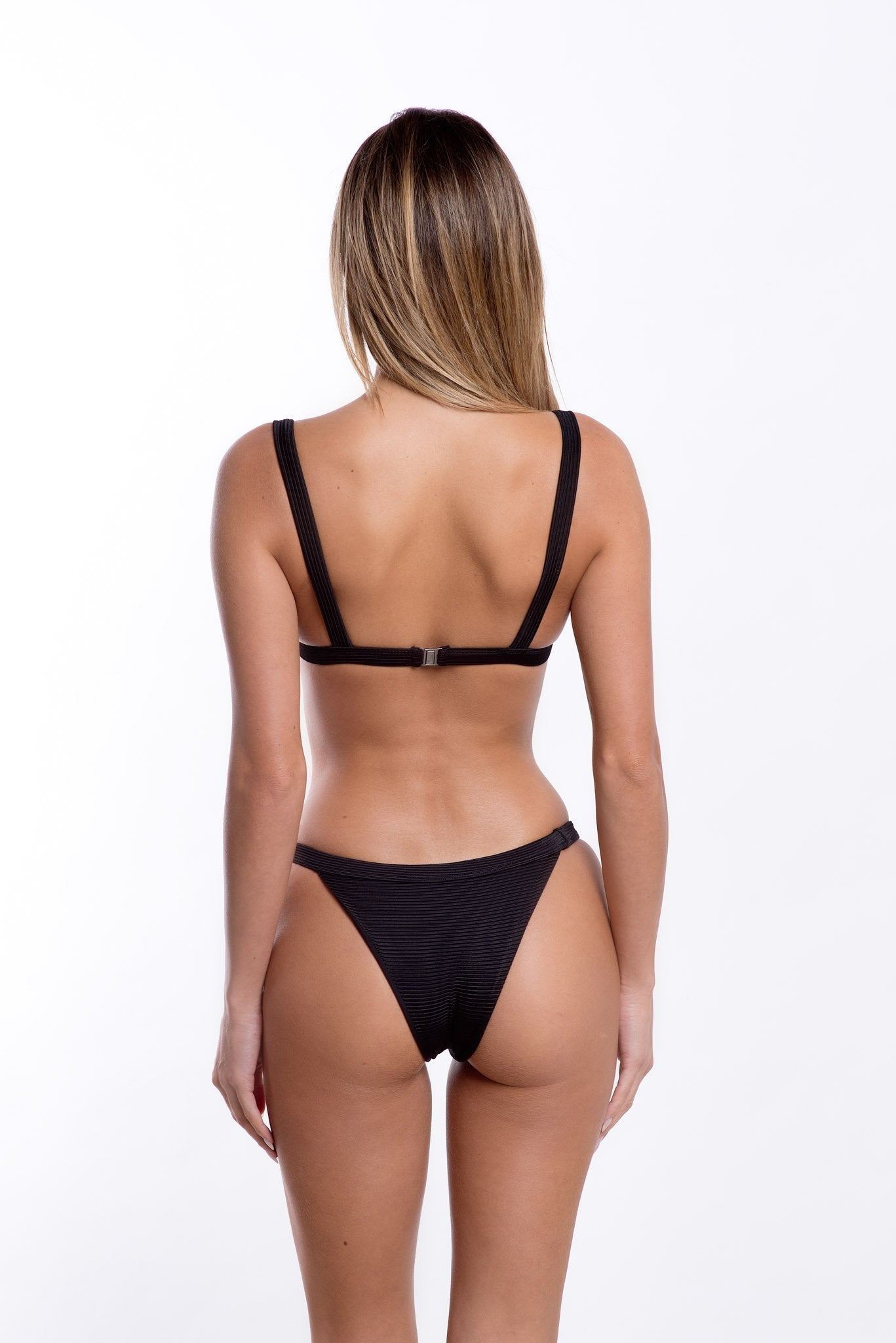 Romee Bottoms Black Rib
