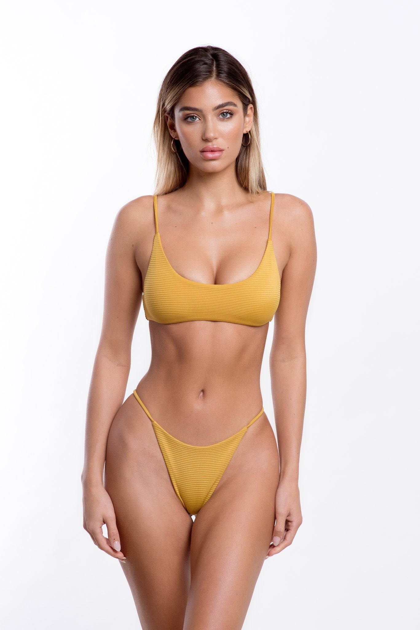 Lara Bottoms Mustard Rib