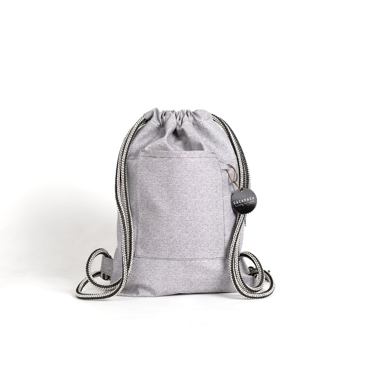Sackpack gray melange