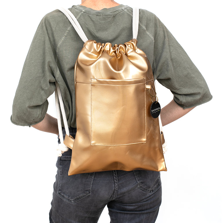 Sackpack Shiny Gold
