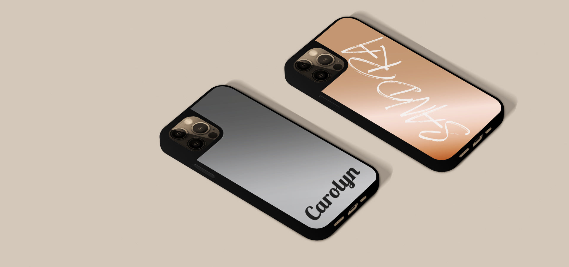 silver and rose gold iphone case