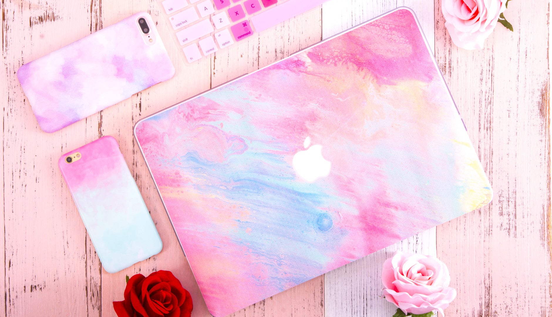 pink-laptop-sticker-on-a-table
