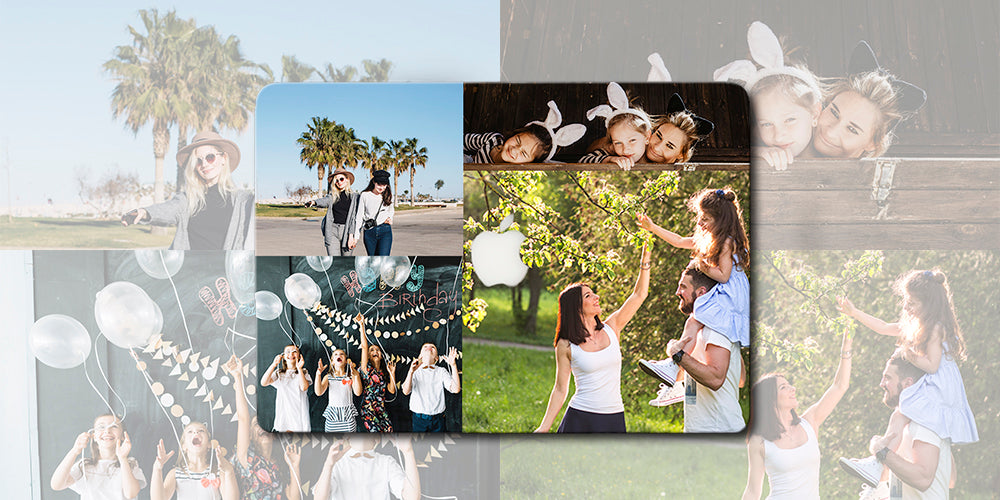 Custom Macbook photo case - 5 grid - fine printing