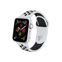 Breathable apple watch band in black and white colour