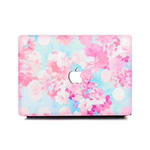 Macbook Sleeve Package [A1370/A1465] MacBook Air 11' / Gradient Keypad - Pink / MacBook Sleeve - Padded Sponge-lined Zip Bag in Pink MacBook Case Sleeve Package - Sakura Blossoms