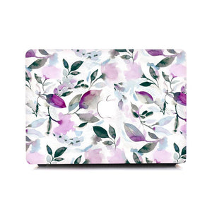 Macbook Sleeve Package [A1370/A1465] MacBook Air 11' / Gradient Keypad - Purple / MacBook Sleeve - Spill-Proof Leather Zip Bag in Baby Pink MacBook Case Sleeve Package - Floral Violet