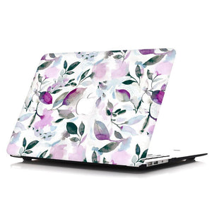 MacBook Case Sleeve Package - Floral Violet - Slick Case