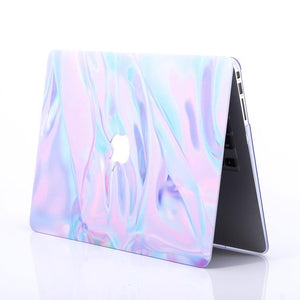 Macbook Sleeve Package [A1370/A1465] MacBook Air 11' / Gradient Keypad - Pink / MacBook Sleeve - Spill-Proof Leather Zip Bag in Baby Pink MacBook Case Sleeve Package - Gleaming Marble
