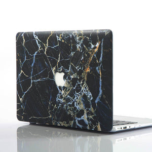 Macbook Sleeve Package [A1370/A1465] MacBook Air 11' / Multi-Color Macbook Keypads - Carbon Black / MacBook Sleeve - Padded Sponge-lined Zip Bag in Black MacBook Case Sleeve Package - Gold Streak Marble