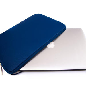 Macbook Sleeve Package [A1370/A1465] MacBook Air 11' / Multi-Color Macbook Keypads - Sea Blue / MacBook Sleeve - Spill-Proof Leather Zip Bag in Navy Blue MacBook Case Sleeve Package - Mauve Marble