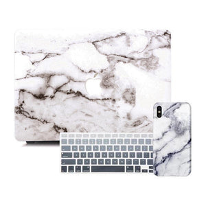 MacBook & iPhone Case Package - Grey Marble - Slick Case