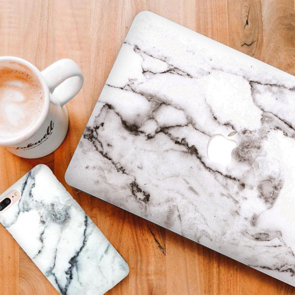Best Macbook Discount Package - MacBook & iPhone Case Package - Grey Marble