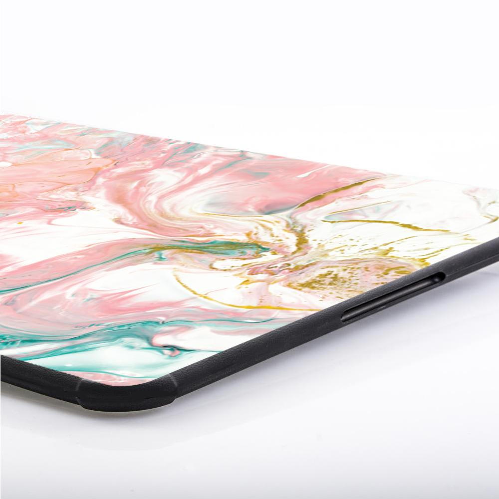 Best Laptop Leather Sleeve Package - Laptop Leather Sleeve Package - Abstract Pink Turquoise Paint